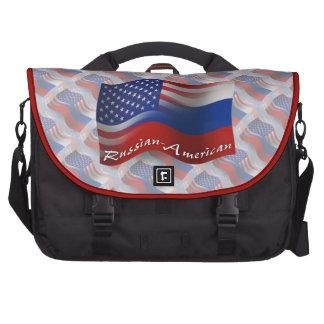 Bandera que agita Ruso-Americana Bolsas De Portatil