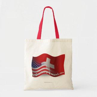 Bandera que agita Suizo-Americana Bolsa Tela Barata