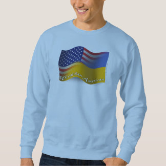 Bandera que agita Ucraniano-Americana Sudadera Con Capucha