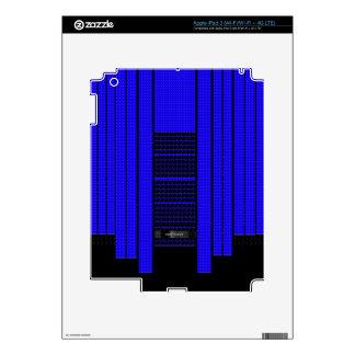Bandera que fluye azul con clase iPad 3 skin
