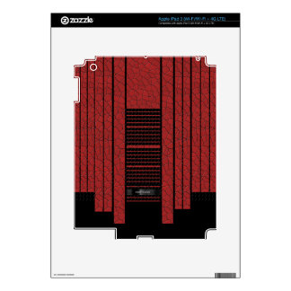 Bandera que fluye negra roja con clase pegatina skin para iPad 3