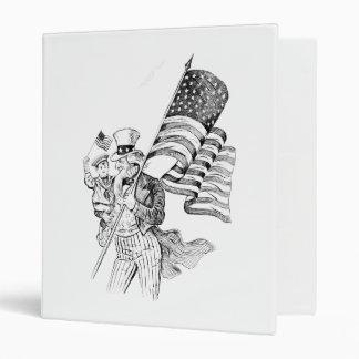 Bandera que lleva del tío Sam y niño patriótico