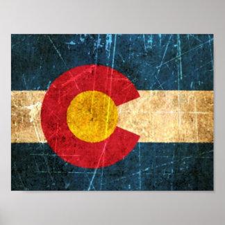 Bandera rascada y llevada de Colorado Impresiones