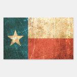 Bandera rascada y llevada de Tejas Etiqueta