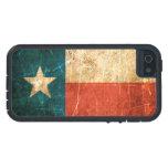 Bandera rascada y llevada de Tejas iPhone 5 Case-Mate Protector