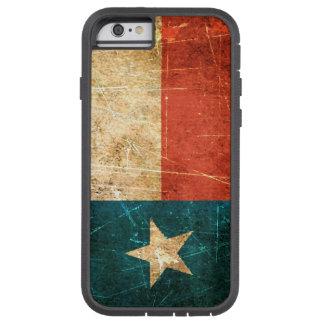 Bandera rascada y llevada de Tejas Funda De iPhone 6 Tough Xtreme