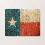 Bandera rascada y llevada de Tejas Puzzle Con Fotos