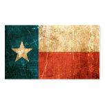 Bandera rascada y llevada de Tejas Tarjetas De Negocios