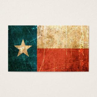 Bandera rascada y llevada de Tejas Tarjetas De Visita