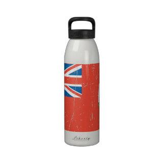 Bandera rascada y rasguñada de Bermudas Botella De Agua Reutilizable
