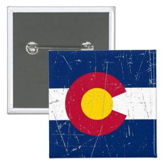 Bandera rascada y rasguñada de Colorado Pin