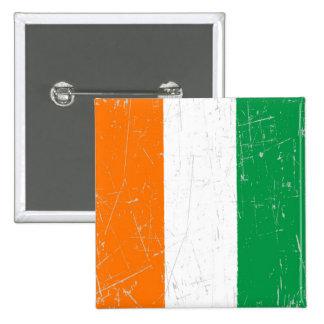 Bandera rascada y rasguñada de Costa de Marfil Pins