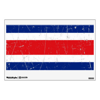 Bandera rascada y rasguñada de Costa Rica