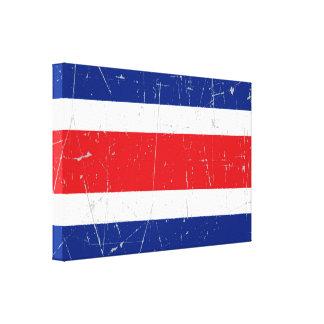 Bandera rascada y rasguñada de Costa Rica Impresion En Lona