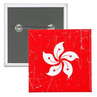 Bandera rascada y rasguñada de Hong Kong Pin