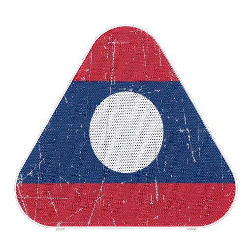Bandera rascada y rasguñada de Laos Altavoz Bluetooth