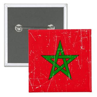 Bandera rascada y rasguñada de Marruecos