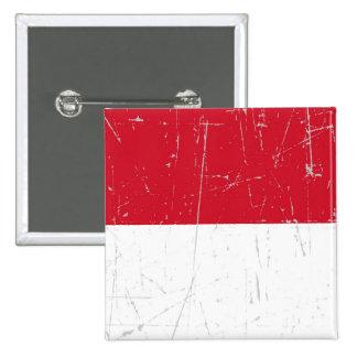 Bandera rascada y rasguñada de Mónaco