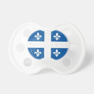 Bandera rascada y rasguñada de Quebec Chupetes Para Bebes