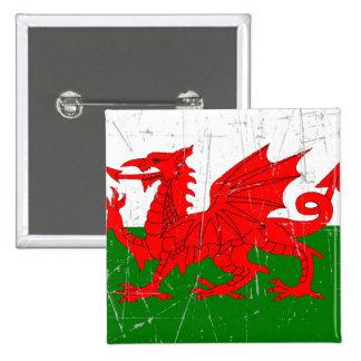 Bandera rascada y rasguñada Galés Pin