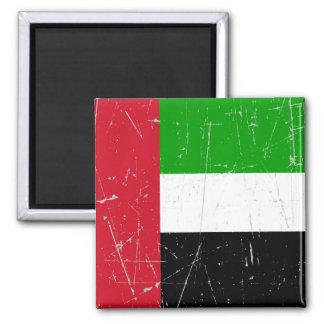 Bandera rasguñada rascada de United Arab Emirates Imanes Para Frigoríficos