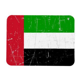 Bandera rasguñada rascada de United Arab Emirates Iman De Vinilo