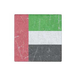 Bandera rasguñada rascada de United Arab Emirates Imán De Piedra