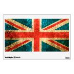 Bandera rasguñada y llevada de Británicos del vint