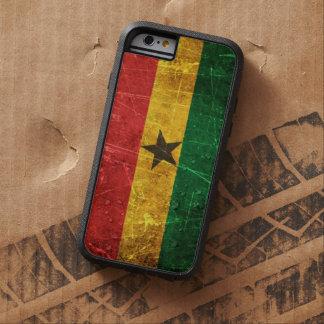 Bandera rasguñada y llevada de Ghana del vintage Funda De iPhone 6 Tough Xtreme