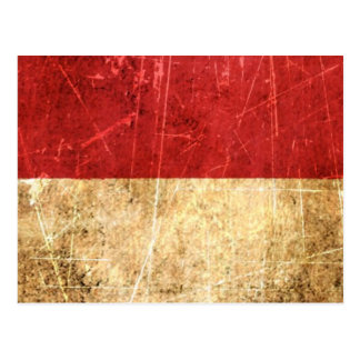 Bandera rasguñada y llevada de Mónaco del vintage Tarjeta Postal