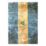 Bandera rasguñada y llevada de Nicaragua del vinta Invitacion Personal