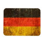 Bandera rasguñada y llevada del alemán del vintage imán de vinilo