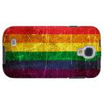 Bandera rasguñada y llevada del arco iris del orgu