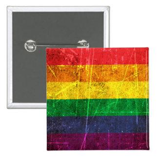 Bandera rasguñada y llevada del arco iris del orgu pins