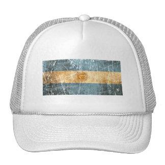 Bandera rasguñada y llevada del argentino del vint gorros