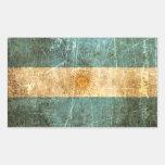 Bandera rasguñada y llevada del argentino del vint etiqueta