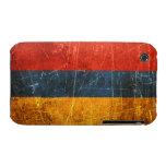 Bandera rasguñada y llevada del armenio del iPhone 3 fundas