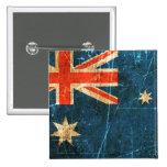 Bandera rasguñada y llevada del australiano del vi pin