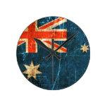 Bandera rasguñada y llevada del australiano del vi relojes de pared