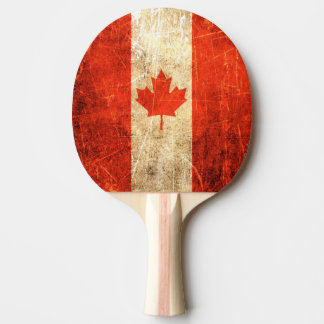 Bandera rasguñada y llevada del canadiense del pala de ping pong