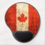 Bandera rasguñada y llevada del canadiense del vin alfombrilla de ratón con gel