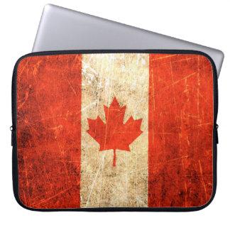 Bandera rasguñada y llevada del canadiense del vin funda computadora