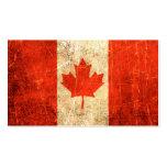 Bandera rasguñada y llevada del canadiense del vin plantillas de tarjetas de visita