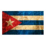 Bandera rasguñada y llevada del cubano del vintage tarjeta de visita
