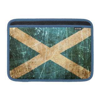 Bandera rasguñada y llevada del escocés del vintag funda para macbook air