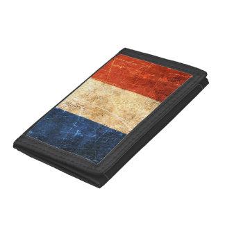 Bandera rasguñada y llevada del francés del vintag