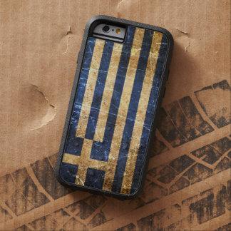 Bandera rasguñada y llevada del Griego del vintage Funda De iPhone 6 Tough Xtreme