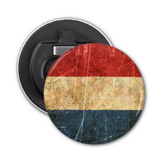 Bandera rasguñada y llevada del holandés del abrebotellas redondo