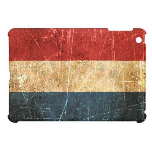 Bandera rasguñada y llevada del holandés del vinta