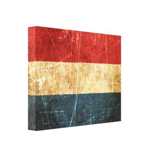 Bandera rasguñada y llevada del holandés del vinta lona envuelta para galerías
